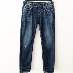 [Silver Jeans] Semi Distressed Suki Skinny Jeans